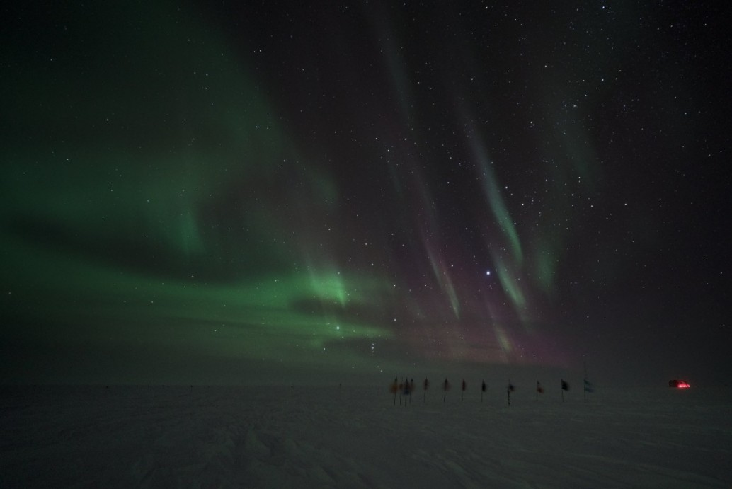 Auroras over the Ceremonial Pole
